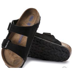 BIRKENSTOCK Arizona Suede Sandals Double Straps 6